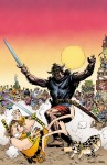 Roe also likes Groo vs. Conan #2: (it) pits the two most feared barbarians in comics against one another. Will the savagery of Conan overwhelm the stupidity of Groo, or will Groo's unmatched aptitude for destruction catch the Cimmerian swordsman off guard?