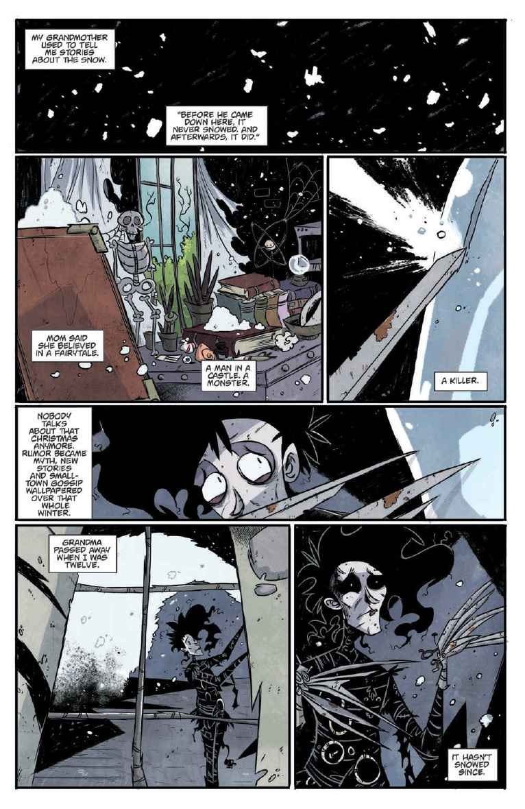 Preview Review Edward Scissorhands 1 Idw What Cha