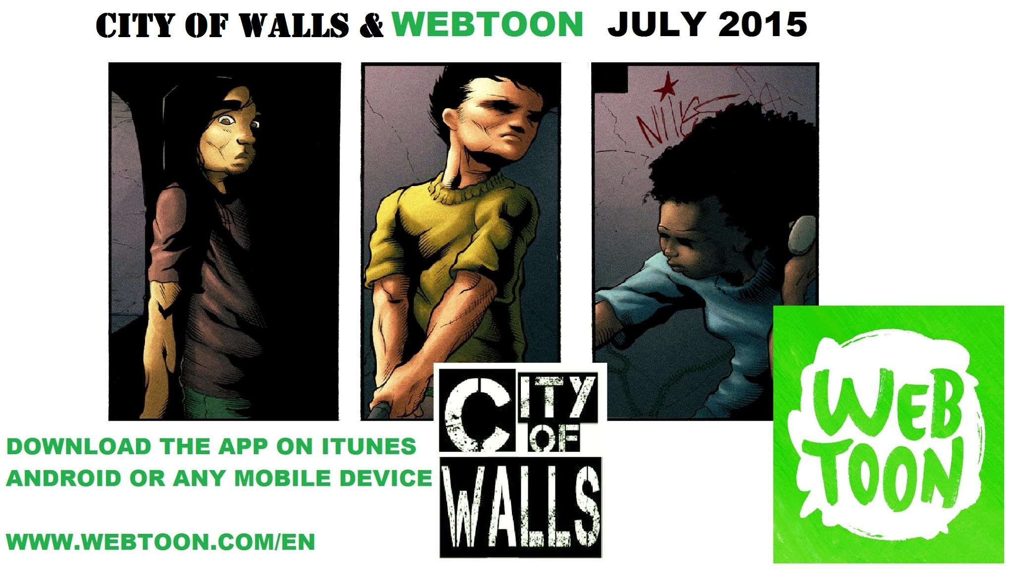 City of Walls Comes to Webtoon - Read it For Free! ~ What'cha Reading?